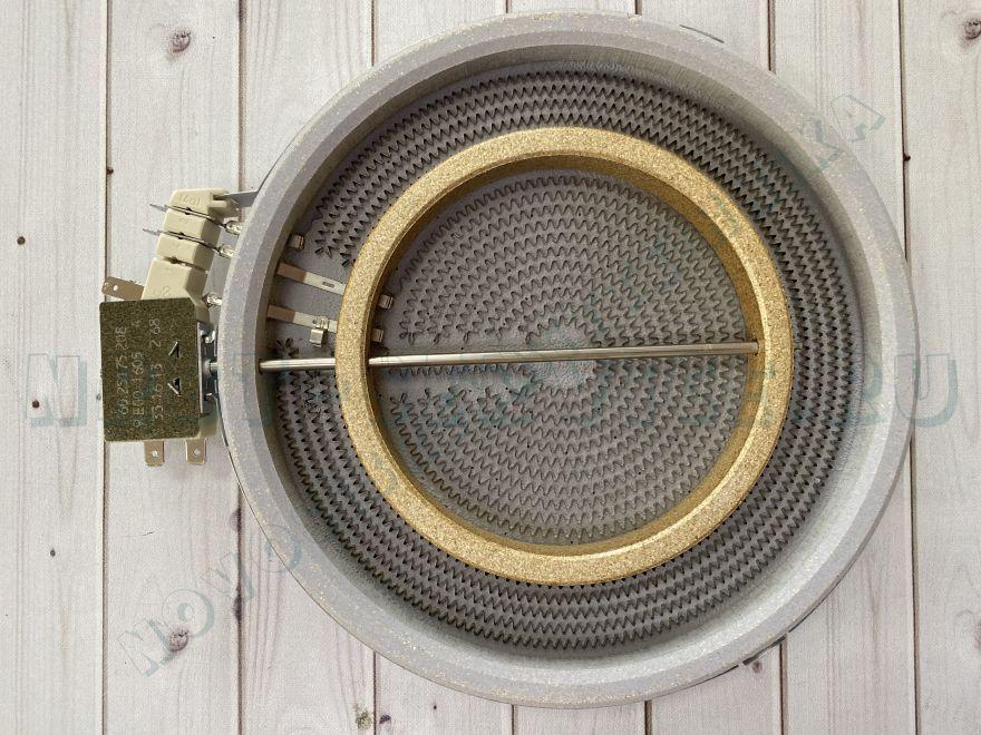 Эл_Конфорка (стеклокерамика) 1900/800 W.с расшир.зоной d=200мм, , шт
