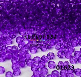 Бисер чешский 01623 светло-сиреневый прозрачный блестящий Preciosa 1 сорт