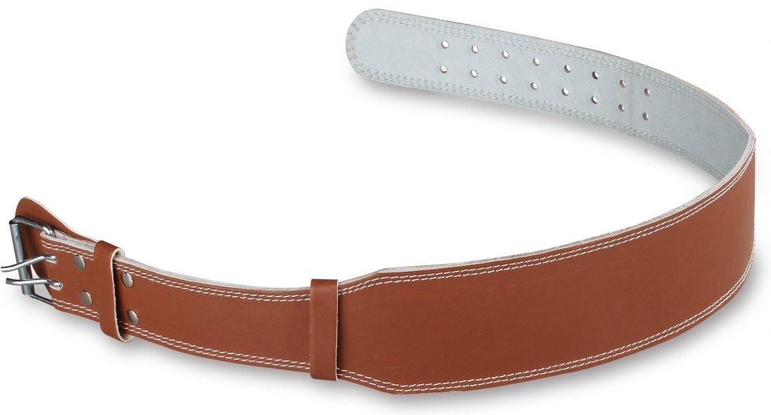 Пояс тяжелоатлетический кожаный узкий E124 (10 см)