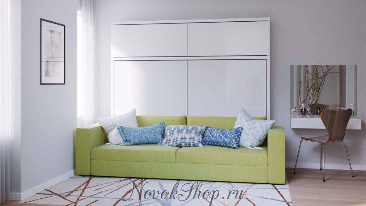 Горизонтальная кровать трансформер SOLO с диваном