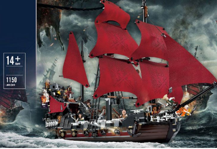 Конструктор корабль пираты Месть королевы Анны