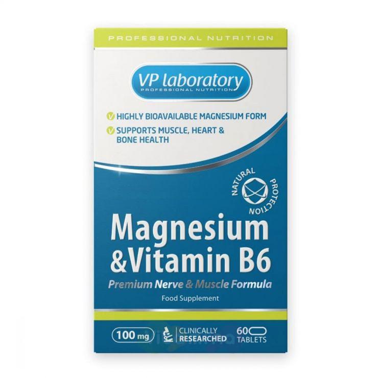 VPLab Магний с Витамином B6, 60 табл.