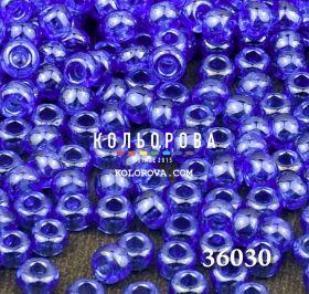 Бисер чешский 36030 светло-синий прозрачный блестящий Preciosa 1 сорт