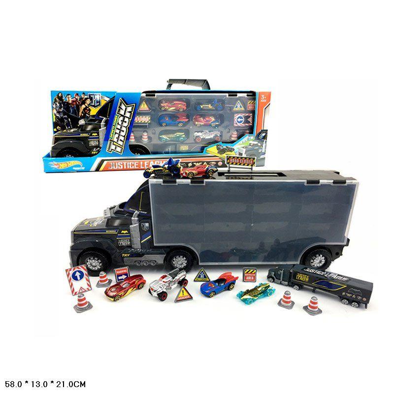 7513-K3  Грузовик с машинками внутри Автоперевозчик Truck Hot Wheels