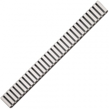 Водоотводящая решетка AlcaPlast LINE-650м (650 мм) матовая
