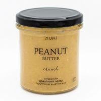Натуральная арахисовая паста кранч с хрустящими кусочками,190 грамм