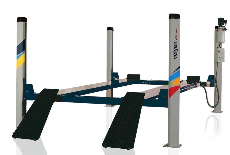 Подъемник четырехстоечный  платформы гладкие Velyen 4ED0600F