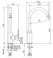 Смеситель для кухни Fima - carlo frattini Serie 22 Kitchen F3837/3
