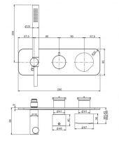 Смеситель для ванны/душа Fima - carlo frattini So F3169NX2