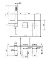Смеситель для ванны/душа Fima - carlo frattini Zeta F3989NX2