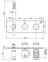 Смеситель для ванны/душа Fima - carlo frattini Spillo Tech F3049NX2