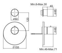 Смеситель для ванны/душа Fima - carlo frattini Spillo steel F3083X1