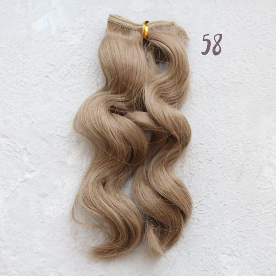 Трессы для создания причеcки куклам - Волна 15 СМ пепельный блонд