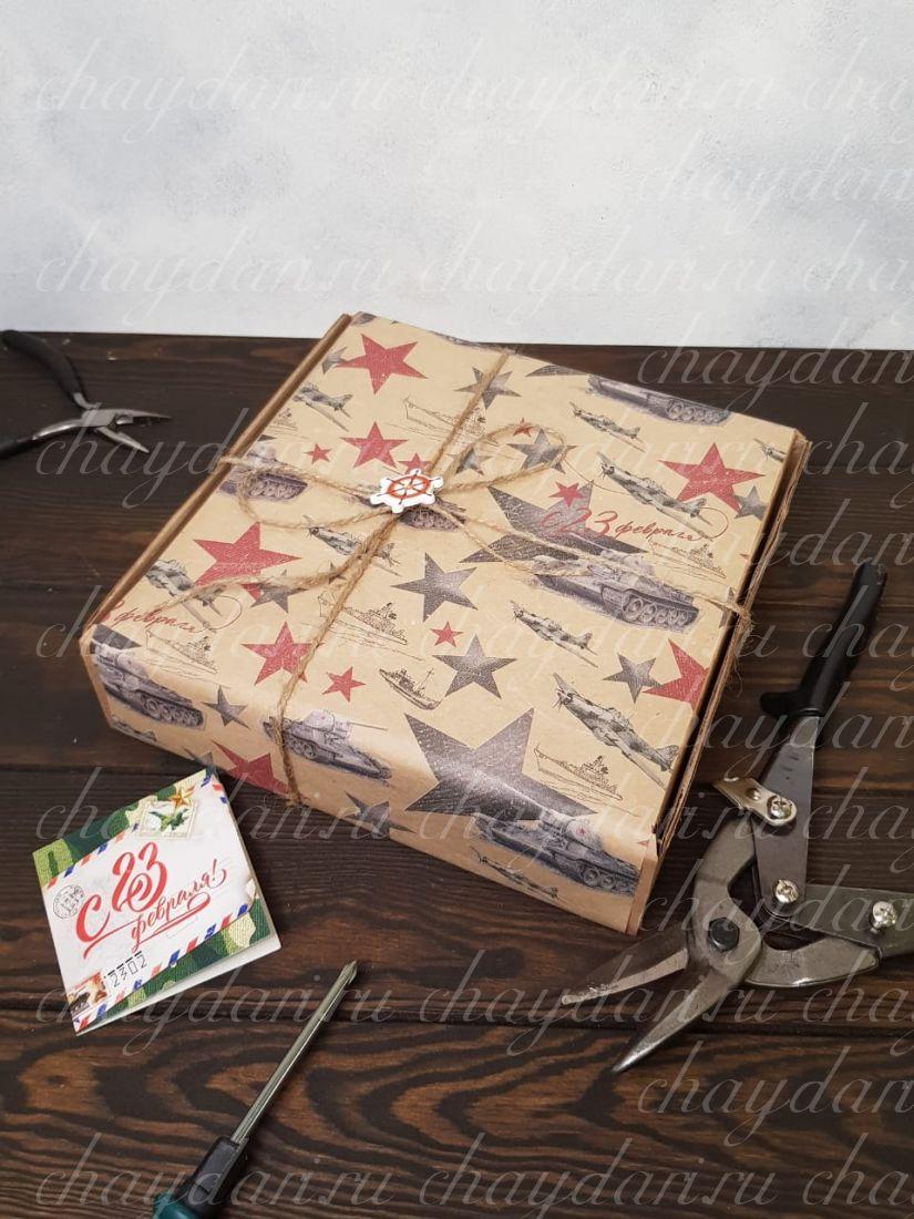 """Коробка с чаем и мёдом  """"Звездные погоны»"""