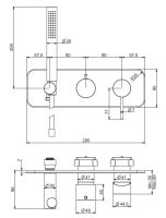Смеситель для ванны/душа Fima - carlo frattini Spillo up F3049NX2