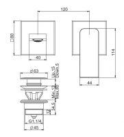 Смеситель для раковины Fima - carlo frattini Fit F3391NLX8