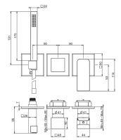 Смеситель для ванны/душа Fima - carlo frattini Fit F3399X8