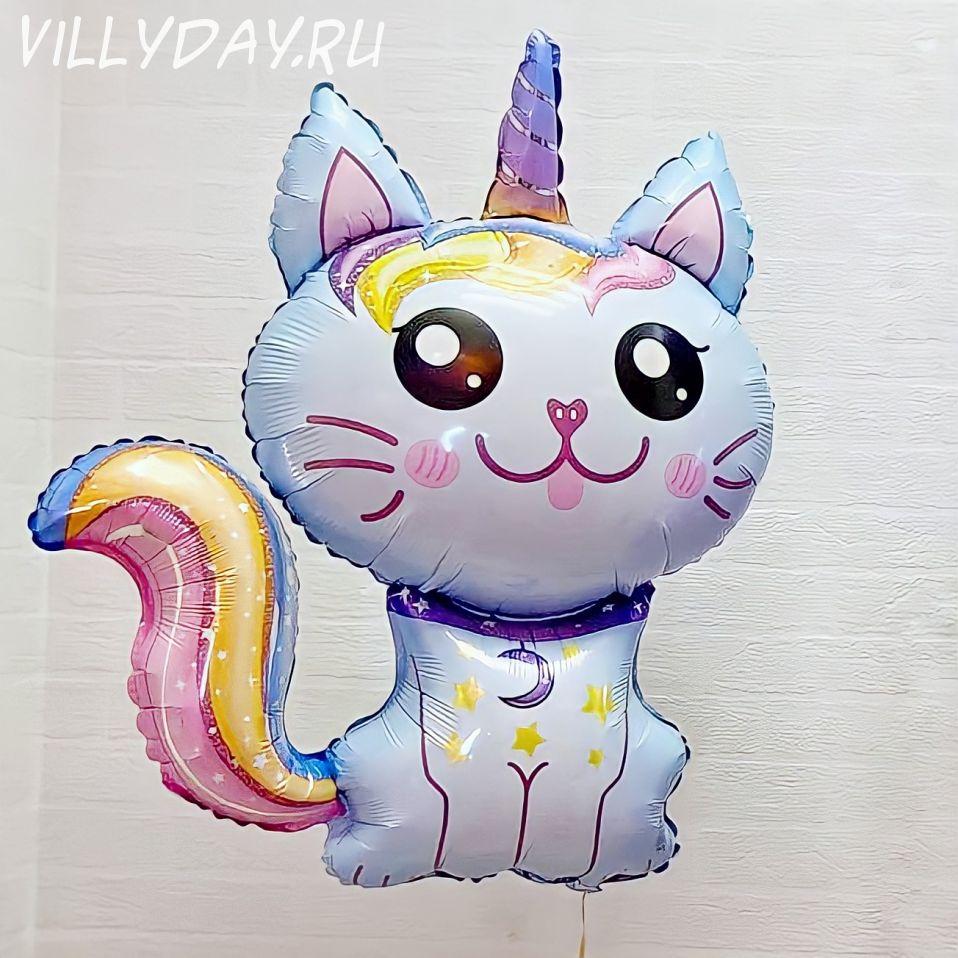 Котик- единорог (голубой) 89см.