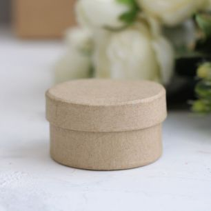 Кукольная миниатюра - Коробочка крафт круглая, 5 см