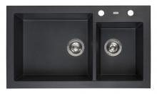 Мойка Reginox Amsterdam 25 R (850х490) Black Silvery R31087