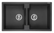 Мойка Reginox Amsterdam 20 R/U (860х500) Black Silvery R31001