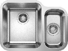 Кухонная мойка Blanco Supra 340/180-U (чаша слева, с клапаном-автоматом) 525217