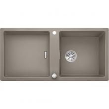 Мойка кухонная Blanco Adon XL 6 S Silgranit PuraDur (серый беж), 523611