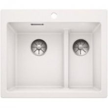 Мойка кухонная Blanco PLEON 6 Split Silgranit PuraDur (белый), 521693