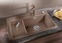 Мойка кухонная Blanco ZENAR XL 6 S Compact Silgranit PuraDur (темная скала), 523707