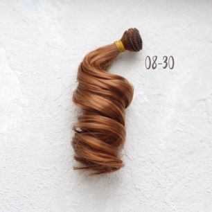 Трессы для создания причеcки куклам - Локоны Голливуд 20 см Медно-русый