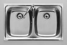 Двойная кухонная мойка Roca P 876620805