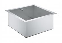 Кухонная мойка из нержавеющей стали 40см, 1 чаша, без корзинчатого вентиля, Grohe Cube K700 31578 SD0 (31578SD0)