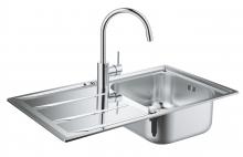 Комплект кухонной мойки из нержавеющей стали с смесителем, Grohe K400 31570 SD0 (31570SD0)