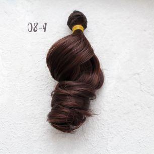 Трессы для создания причеcки куклам - Локоны Голливуд 20 см Тёмно-каштановый