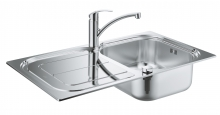 Комплект кухонной мойки из нержавеющей стали с смесителем, Grohe K300  31565 SD0 (31565SD0)
