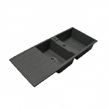 Кухонная мойка Акватон Торина двойная,черная 1A712032TR100