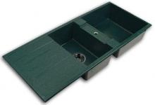 Кухонная мойка Акватон Торина двойная,зеленая 1A712032TR120