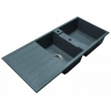 Кухонная мойка Акватон Торина двойная, серый шелк 1A712032TR250