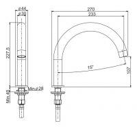 Излив для ванны Fima - carlo frattini Spillo Steel F2943