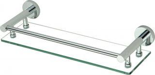 Полка стеклянная 40 см Savol S-408791 хром