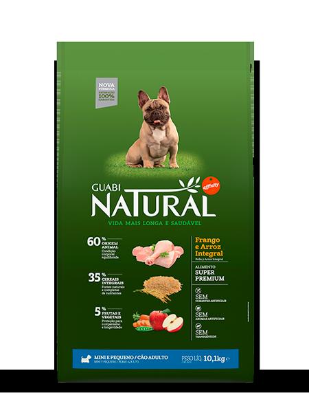 GUABI NATURAL Для Взрослых собак Мелких пород. Цыпленок и коричневый рис 10,1 кг