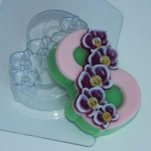 Форма для мыла и шоколада 8 Марта/Орхидея по диагонали