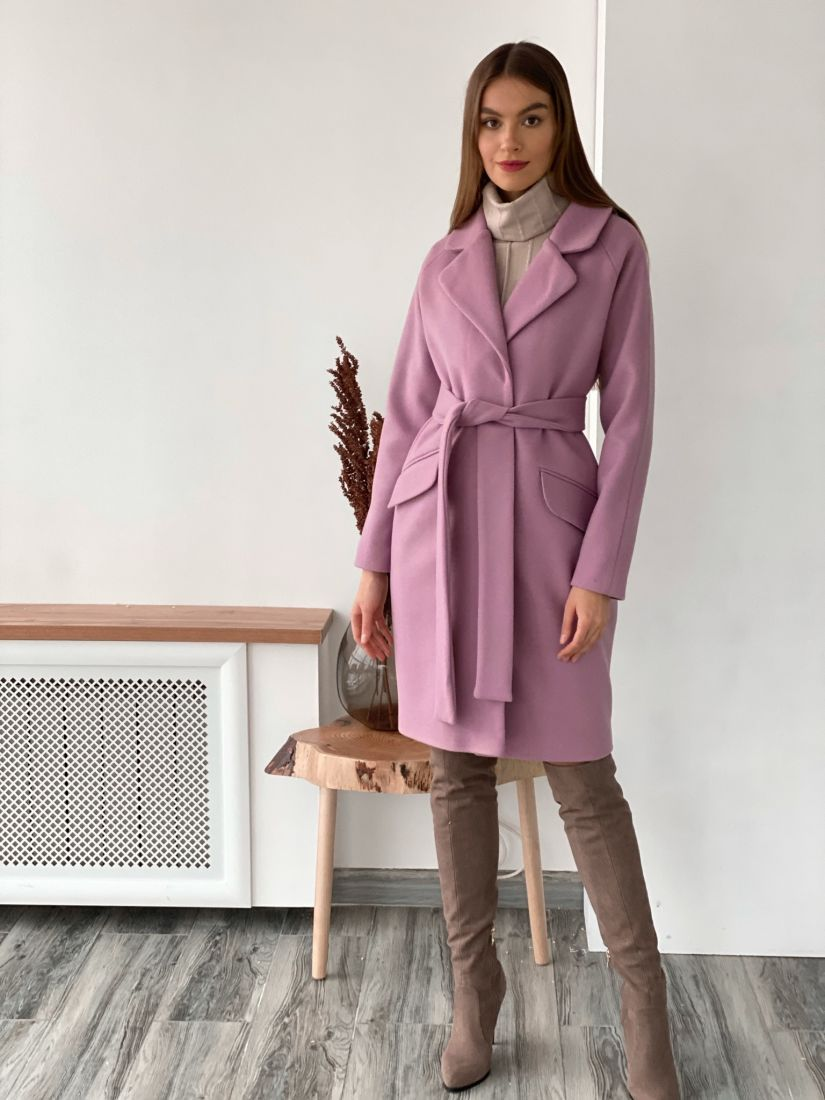 3657 Пальто cocoon new в цвете lavender