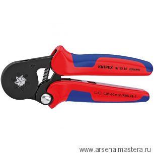 Пресс-клещи для контактных гильз, самонастраивающиеся с боковой установкой (ОБЖИМНИК ручной) KNIPEX 97 53 14