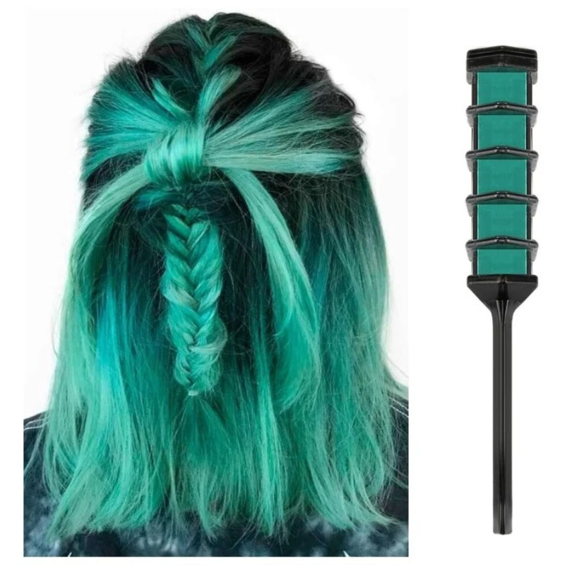 Волшебная расческа для временной тонировки волос, Зелёный