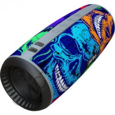 "Колонка универс.с радио Perfeo ""SKULLS"" FM, microSD, USB, AUX, мощность 12Вт, 2600mAh, граффити черепа"