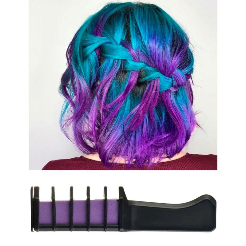 Волшебная расческа для временной тонировки волос, Фиолетовый