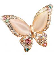 Брошь Розовая Бабочка