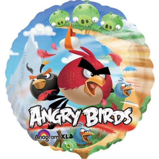 Angry Birds круглый шар фольгированный с гелием