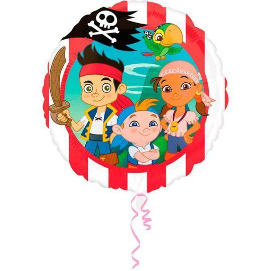 Пират Джейк круглый шар фольгированный с гелием
